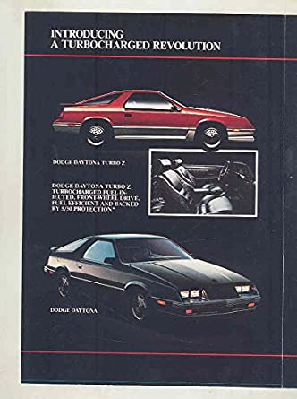 Amazon.com: 1984 Dodge Daytona Charger 600 Pickup Mailer Brochure & Iacocca Letter: Entertainment Collectibles