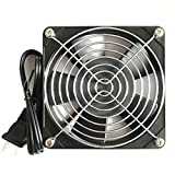 Kabel Leader 12025 AC Cooling Fan 115V AC 120mm by 120mm by 25mm Low Speed