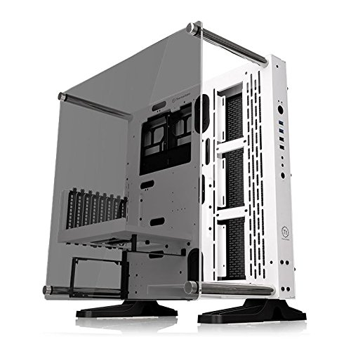 Modular Riser - Thermaltake Core P3 ATX Tempered Glass Gaming Computer Case Chassis, Open Frame Panoramic Viewing, Glass Wall-Mount, Riser Cable Included, Snow Edition, CA-1G4-00M6WN-05