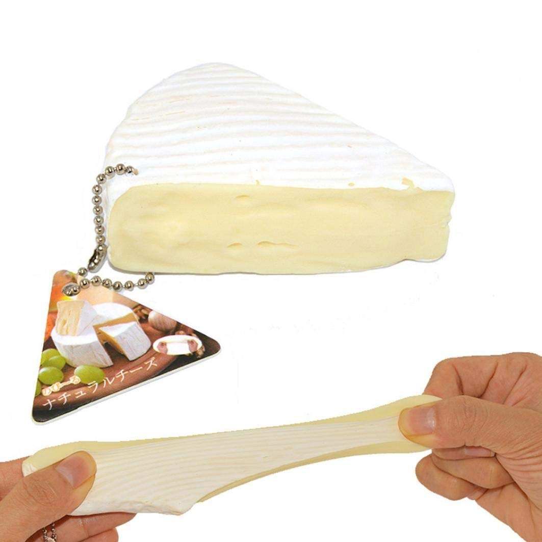 Kangrunmys Squishy Pas Cher Kawaii Squishy Squeeze Stress soulagement de la Simulation Fromage parfumé Lente Rising 7cm Jouets