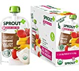 Sprout Organic Baby Food Pouches Stage 2 Sprout Baby Food, Strawberry Banana Yogurt, 3.5 Ounce (Pack of 6); USDA Organic, Non-GMO, Made with Whole Foods, No Preservatives, Nothing Artificial