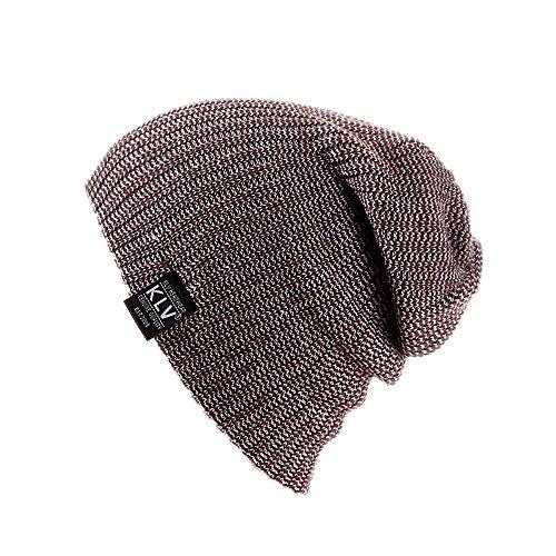 Naiflowers Fashion Unisex Men Women Windproof Baggy Warm Crochet Winter Wool Knit Ski Beanie Skull Slouchy Caps Hat (Coffee) by Naiflowers (Image #1)
