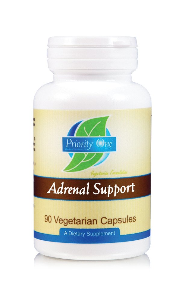 Priority One Vitamins Adrenal Support 90 Capsules Vegetarian Adrenal Support