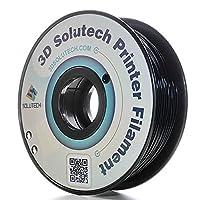 3D Solutech Real Black 1.75mm ABS 3D Printer Filament 2.2 LBS (1.0KG) - 100% USA by 3D Solutech