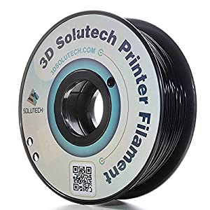 3D Solutech Real Black 1.75mm ABS 3D Printer Filament 2.2 LBS (1.0KG) - 100% USA by 3D Solutech