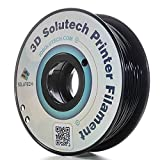 3D Solutech Real Black 1.75mm ABS 3D Printer Filament 2.2 LBS (1.0KG) - 100% USA