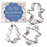 Christmas/Holiday Cookie Cutter Set - 3 Piece - Snowflake, Gingerbread Man and Christmas Tree - Ann Clark Cookie Cutters - US Tin Plated Steel