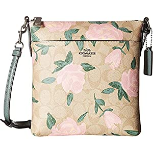 COACH Womens Camo Rose Messenger Crossbody