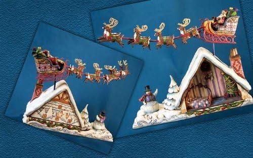Jim Shore – Heartwood Creek – Roof top Santa by Enesco – 4002410