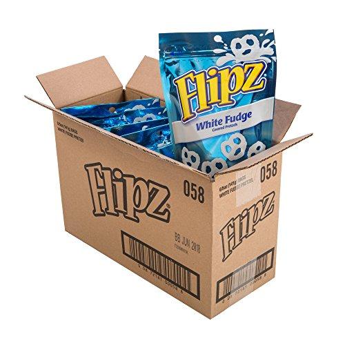 Flipz Chocolate Covered Pretzels, White Fudge, 2.5 Pound (Pack of (Fudge Pretzel)