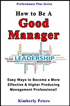 How to be a good manager book