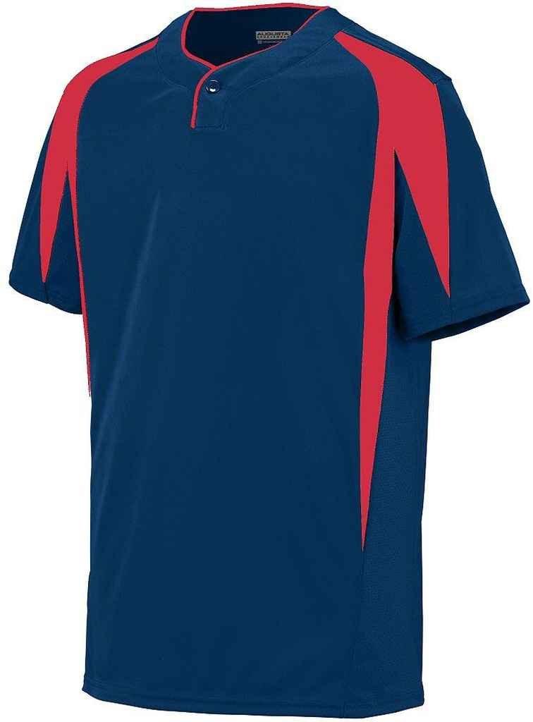 Augusta Sportswearメンズフライボール野球ジャージー B00P53TVVG Medium|ネイビー/レッド ネイビー/レッド Medium