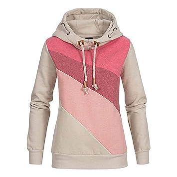 8e4a33d95 Vente!!! Sweat-Shirt à Capuche Femme Manche Longue Casual Coton ...