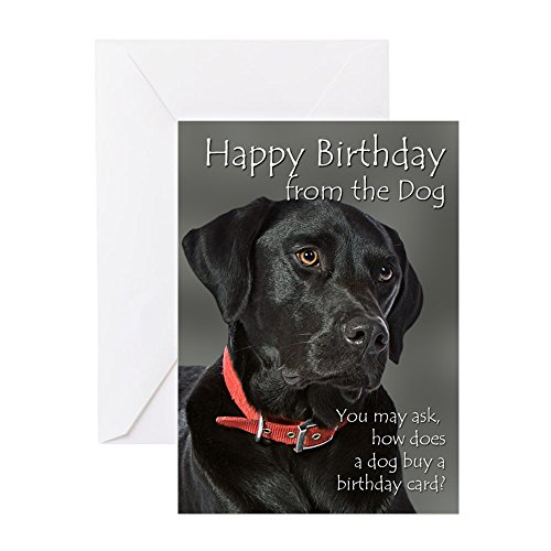 CafePress - From the Black Lab Birthday Card - Greeting Card, Note Card, Birthday Card, Blank Inside Matte