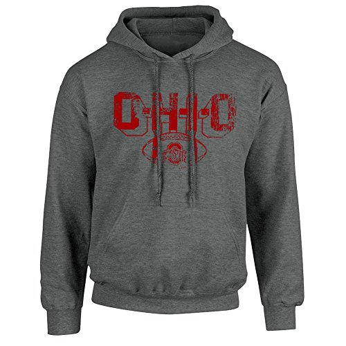 (Elite Fan Shop Ohio State Buckeyes Hooded Sweatshirt Vintage Football Charcoal - M)