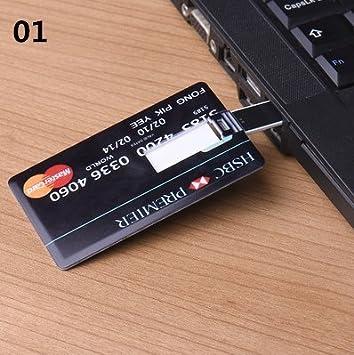 Amazon.com: 64 GB tarjeta de crédito USB Flash Drive ...