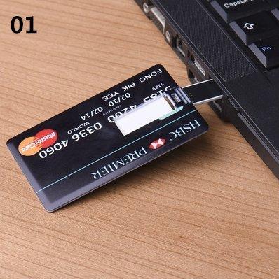 64 GB unidad Flash USB tarjeta de Crédito personalizado Pen ...