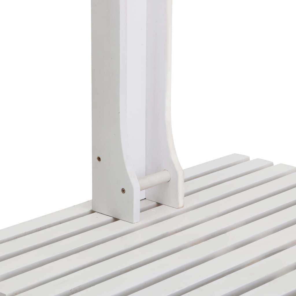 Festnight Ducha de Jard/ín de Madera Ducha Exterior de Madera Ducha para Piscina Blanco 75 x 75 x 221 cm