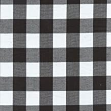 """Black Gingham Check Fabric (1"""" check) 20 Yards Wholesale By The Bolt"""