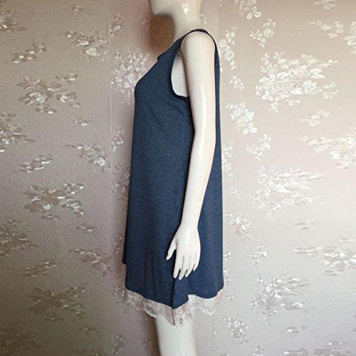 De Fiesta Casual Fiesta V Sin Mujer Suelto Para De Vestido Para De Azul Mujer Camisetas De Mangas Noche Cuello Ncaje Vestidos ZARLLE De Mangas Verano Vestido Con Encaje En Mujer qwXnpaFv