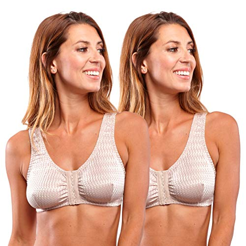 Carole Martin Full-Freedom Front Closure Wireless Comfort Bra for Women (40, ()