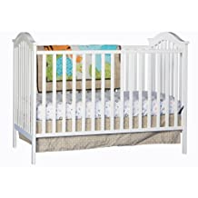 Stork Craft Hampton Fixed Side Convertible Crib, White
