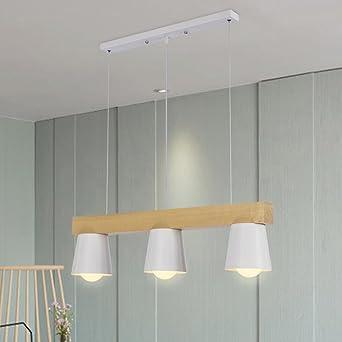 TRIOY Life Pendelleuchte Hngeleuchte Nordic Weiss Kronleuchter Deckenlampen Holz Und Metall Deco Lampe Beleuchtung 3 Flammig