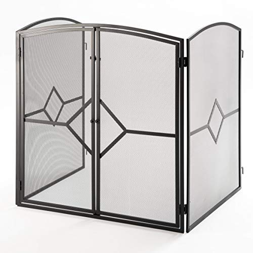 Crannog Superior Heavy Quality Fire Guard/Stove Screen H32 Fireplace Screen with Baby Safe Latch by Crannog