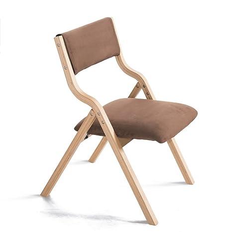 Amazon.com: Taburete de bar plegable de madera maciza silla ...