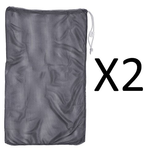 Champion 24x36'' Heavy Duty Nylon Mesh Equipment Bag w/ Drawstring Navy (2-Pack) by Champion Sports