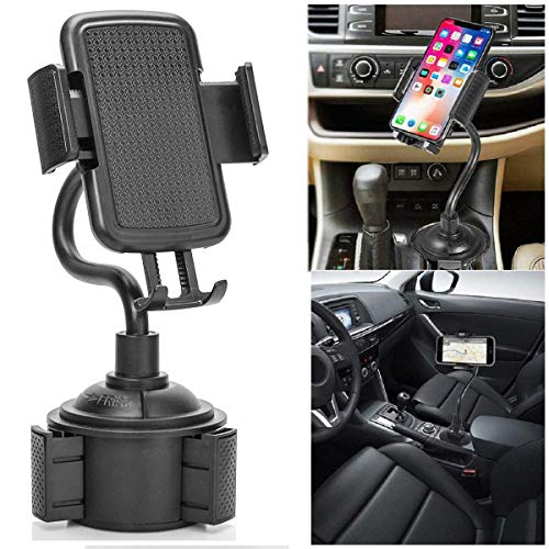 Cup Phone Holder for Car, Portable Cup Phone Holder Car Mount with Universal Adjustable Gooseneck for iPhone Samsung Galaxy Google Pixel and (Portable Cup Holders)