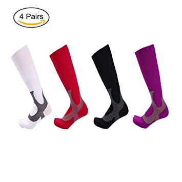 Calcetines De Compresión Profesionales para Hombres, Ajuste Respirable para Correr, Médico, Atlético,