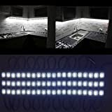 Under Cabinet Lighting kit 60leds 10ft White LED Light Brightness Dimmer Closet Lights Kitchen Counter (White)