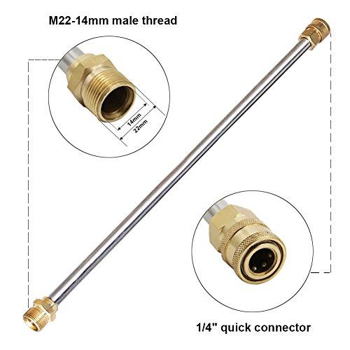 4000 Psi High Pressure Power Washer Gun 21 Inch