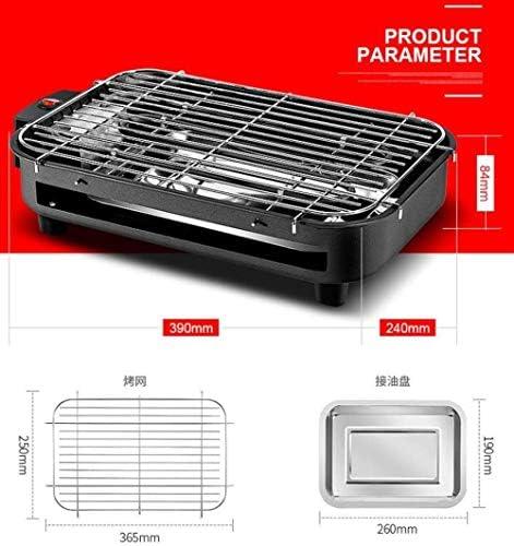 YAYY Électrique Barbecue Grill Maison Électrique Plaque De Cuisson sans Fumée Barbecue Grill Multifonctionnel Amovible Grill pour Ménage (390 * 84 * 240mm) (Mise À Niveau)
