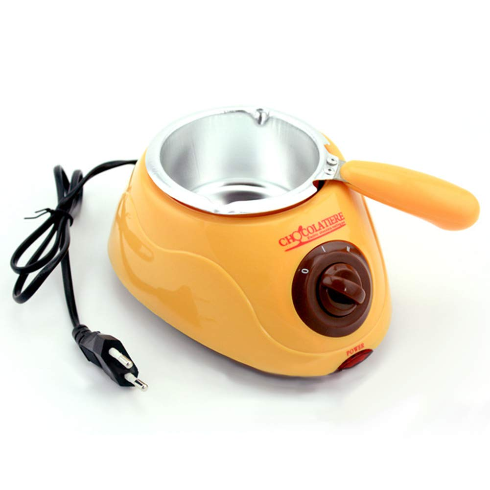 Aoile Hot Chocolate Melting Pot Electric Fondue Melter Machine DIY Baking Tool Yellow European Regulation 220V by Aoile (Image #1)