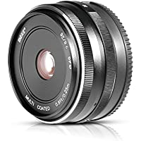 Meike MK-FX-28-2.8 28mm f/2.8 Fixed Manual Focus Lens for Fujifilm Mirrorless Camera X-Pro2/X-T1/X-A2/X-E2/X-E2s/X70/X-E1/X30/X70/X-M1/X-A1/XPro1 with Voking Lens Cleaning Cloth