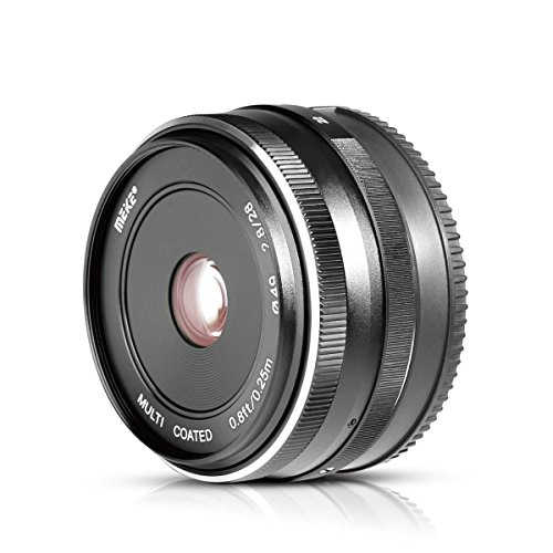 Voking 28mm F2.8 EFM Fixed Manual Focus Lens for Canon EF-M APS-C Mirrorless Cameras EOS-M3/EOS-M2/EOS-M10/EOS-M50/EOS-M6II/EOS-M200/EOS-M100 with Voking Lens Cleaning Cloth