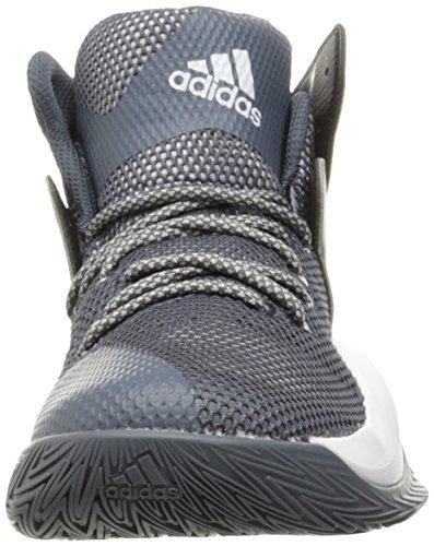 Adidas Performance Mens Pazzo Rimbalzo Scarpa Da Basket Onice / Bianco Grigio Solido / Lgh