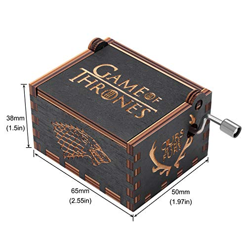 Amazon.com: Huntmic Game of Thrones Wood Muisc Box,Hand Crank Antique Carved Wooden Musical Boxes Best Gift for Birthday Christmas: Home & Kitchen