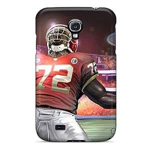 Anti-Scratch Hard Phone Covers For Samsung Galaxy S4 With Customized Realistic Kansas City Chiefs Image LisaSwinburnson