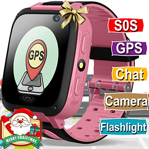 - Kids Smart Watch Phone for Boys Girls with GPS Tracker Cellphone SOS Anti-lost Camera Game Smart Watch Digital Wrist Watch Bracelet for Sport Outdoor Learning Toys Christmas Holiday Gifts