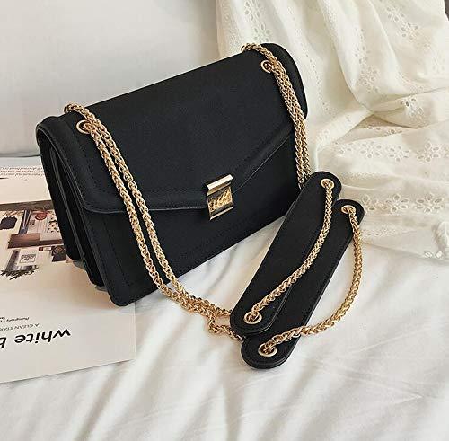 Buy Generic Retro Fashion Female Square Bag 2018 New Matte Pu Leather Women S Designer Handbag Chain Shoulder Messenger Bags Color Black Size 22 X 8 X 15 Cm At Amazon In