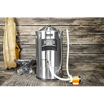 ANVIL FOUNDRY 6.5 Gallon Electric Boiler Kettle For All Grain Brewing T500 Ready Includes Recirculation Pump Kit and…