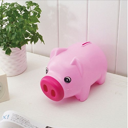 Blue Stones Cartoon Pig PIGGY Bank Coin Money Plastic Still Savings Toy Cash Safe Box Cartoon Transparent pig piggy bank child lovers gift