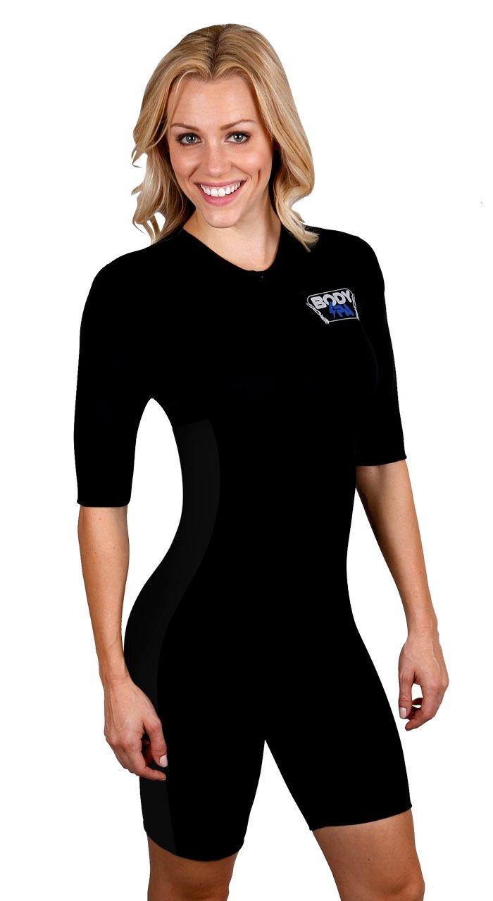 Sauna Suit Neoprene Weight Loss Gym Sport Aerobic Boxing MMA 13930 (Small, Black)