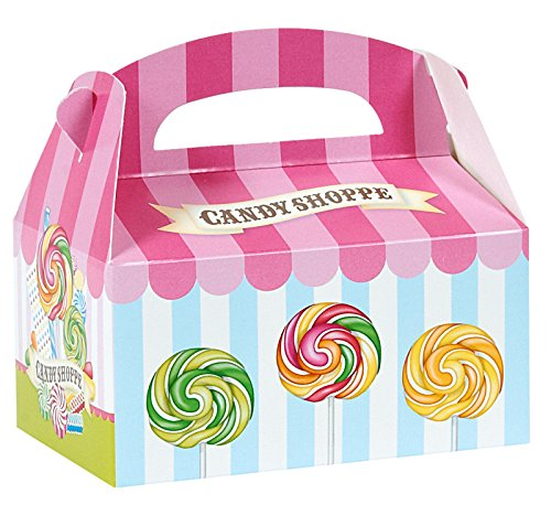 BirthdayExpress Carnival Candy Shoppe Party Supplies - Empty Favor Boxes (4) for $<!--$7.99-->