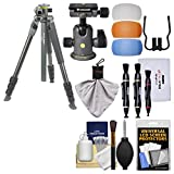 Vanguard Alta Pro 2+ 264CT Carbon Fiber Tripod Legs & Case with BH-100 Ball Head + Flash Diffusers + Cleaning Kit