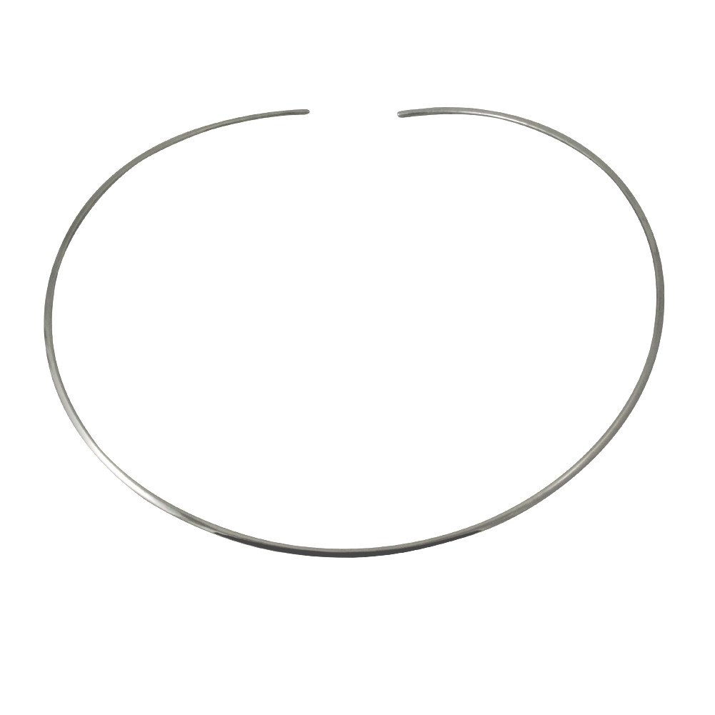 apop nyc Sterling Silver Thin Cuff Choker Collar Necklace