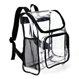 Jomparo Heavy Duty Clear Backpack,Durable PVC See-Thru Multi-Pockets Backpack Good for School,Work,Sports,Stadium,Work,Travel,Outdoor